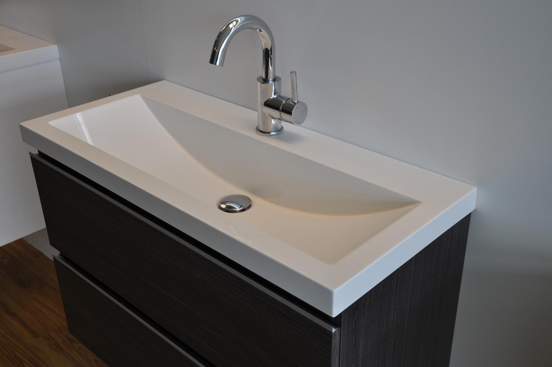 Wastafelmeubel met waskom zelf badkamermeubel maken het zelf
