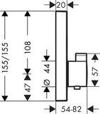 Hansgrohe ShowerSelect afbouwdeel v. inbouwkraan thermostatisch m. 2 stopkranen chroom 15763000_9