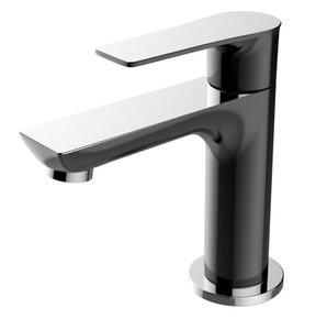 "Casma toiletkraan 1/2"" zwart/chroom"
