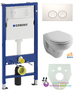 Geberit UP 100 + Sphinx basic wc .+ Delta 21 wit -zonder zitting-